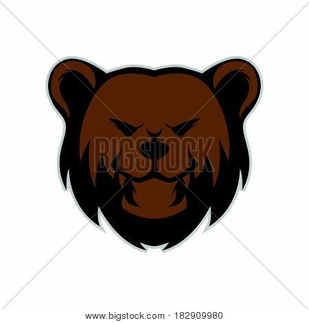 Grizzly Bear Head Mascot