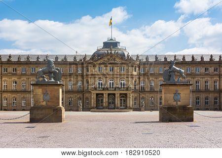 Stuttgart Neues Schloss Beautiful Spring Day German European Historic Architecture