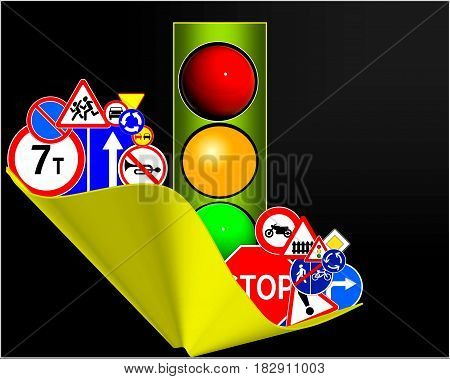traffic icon. road sign illustration,  icon.2 2