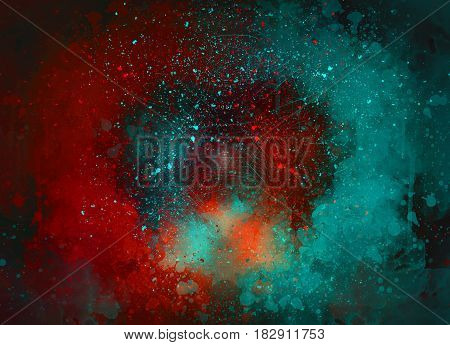 Abstract Colorful background, Colorful painting, Colorful brushing