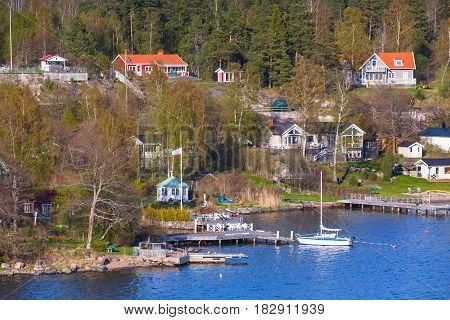 Swedish Landscape, Coastal Village, Pier