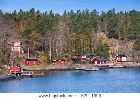 Swedish Rural Landscape, Coastal Village