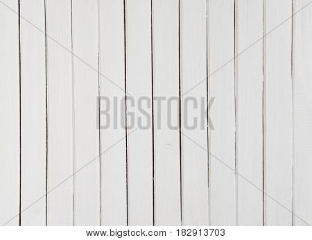 Background of white horizontal wooden planks painted with environmentally friendly color