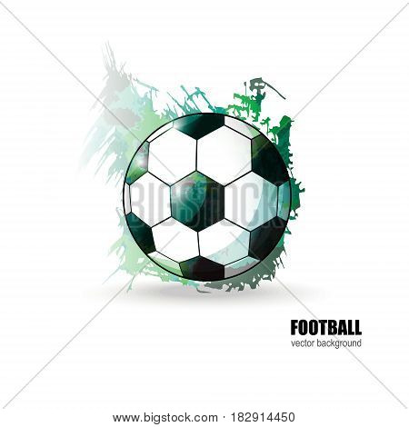 Soccer ball. Abstract background. The watercolor effect. Football vector illustration for cover textile flyer banner. EPS file is layered.