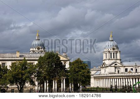 the old royal navy college in greenwich