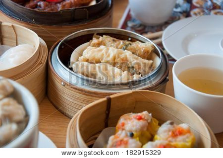 Dim Sum is a Chinese-style food. A popular dish to eat in the morning.
