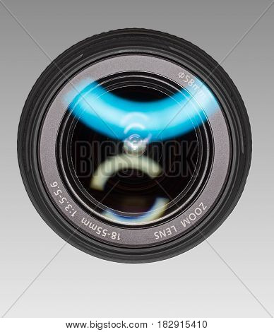 Wide-angle lens for digital camera. Front view.