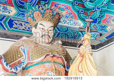 Henan, China - Nov 09 2015: Budda Statue At Shaolin Temple(world Heritage Site). A Famous Historic S