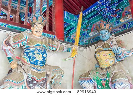 Henan, China - Nov 09 2015: Budda Statues At Shaolin Temple(world Heritage Site). A Famous Historic