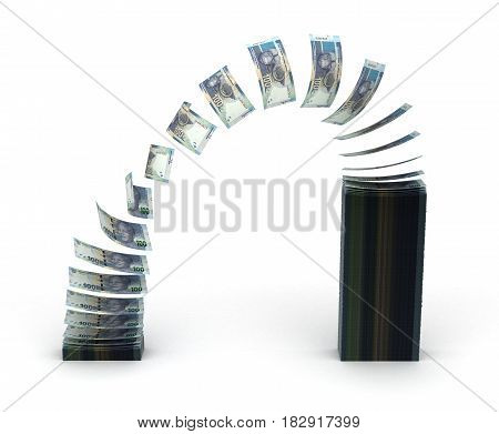 South African Rand Transfer (isolated with clipping path) 3D Rendering
