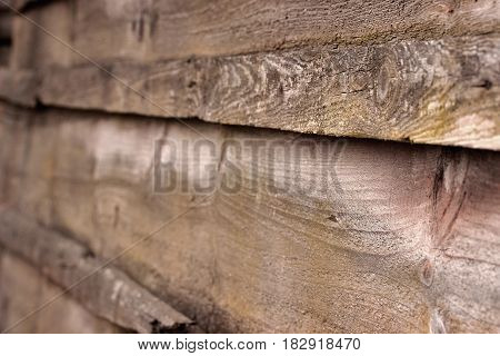 Old Wooden Rustic Fence Background Or Texture.