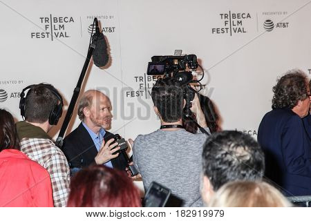 NEW YORK- APRIL 20: Filmmaker Ron Howard  attends the `Genius` Premiere during Tribeca Film Festival 2017 at BMCC Tribeca PAC on April 20, 2017 in New York City.