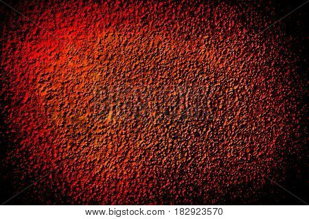 Grunge red and orange dark grain obsolete backgroung with vignetting