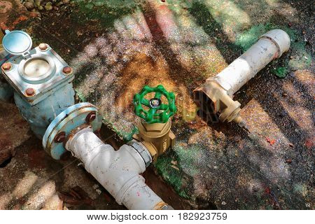 water valve new have repair pipes with modify of joined meter old rust industrial tap pipe