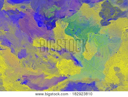 Abstract detail of painters artistic palette abstract background texture