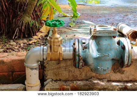 water valve new have repair pipes with modify of joined meter old rust industrial tap pipe poster