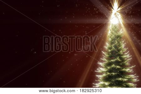 Shiny Christmas Tree (computer generated image) 3D Rendering