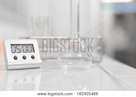 Blurred Glass Tube Equipment