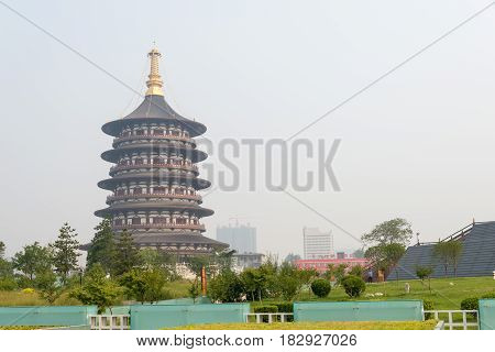 Henan, China - Jul 07 2015: Sui And Tang Dynasty Luoyang City National Heritage Park. A Famous Histo