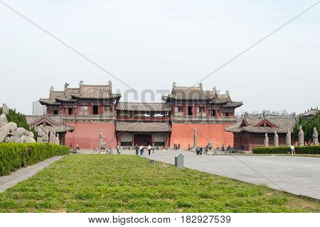 Henan, China - Oct 03 2015: Yongzhao Tomb. The Imperial Tombs In The Northtern Song Dynasty. A Famou