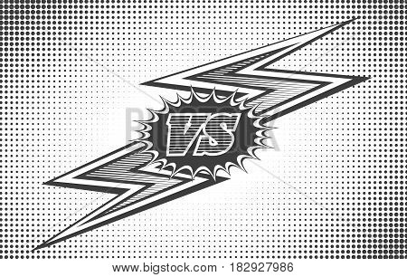 Versus letters background in retro pop art style vector illustration