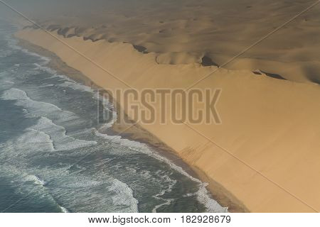 Dune wand at the Skeleton coast Namibia Africa