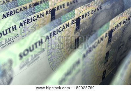 South African Rand Closeup (computer generated image) 3D Rendering