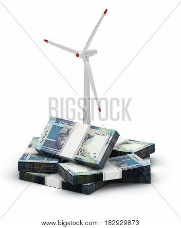 South African Rand Energy Saving (computer generated image) 3D Rendering