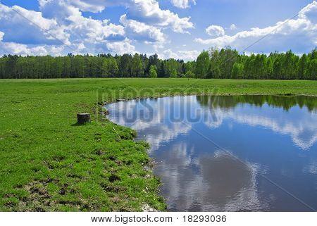 Schönen Frühling Landschaft