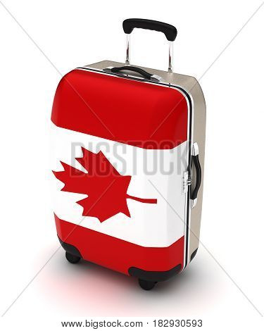 Travel to Canada (isolated with clipping path) 3D Rendering