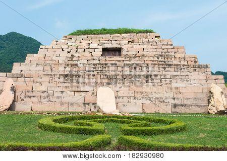 Jilin, China - Jul 27 2015: Mausoleum Of King Jangsu (tomb Of The General), Unesco World Heritage Si