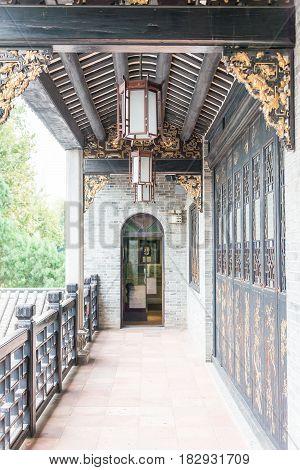 Gunagdong, China - Nov 28 2015: Wong Fei-hung Memorial Museum. A Famous Historic Site In Foshan, Gua