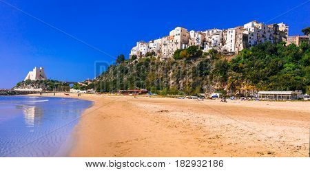 Charming Sperlonga town with nice beaches in Lazio region of Italy