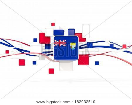Flag Of Saint Helena, Mosaic Background With Lines
