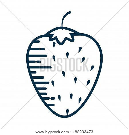 stawberry fruit icon over white background. vector illustration