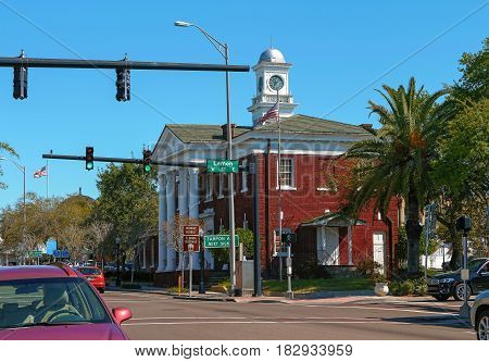 The Tarpon Springs Cultural Center is a old building built in 1915 Was once the City Hall and it is listed on the National Register of Historic Places of USA