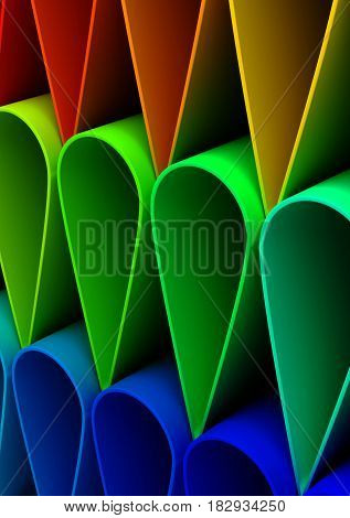 Colorful Background (computer generated image) 3D Rendering