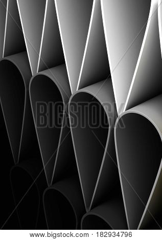 Abstract Background (computer generated image) 3D Rendering
