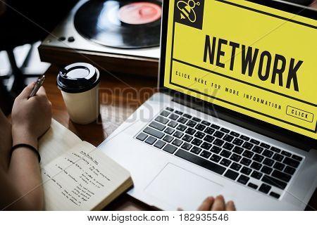 Network Internet Communication Connection Concept