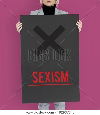 Stop Sexism Racist Discrimination Abusement Threaten