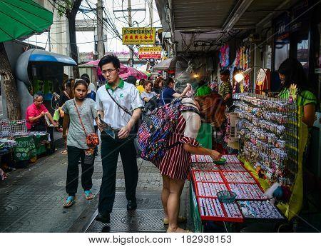 Street Market In Bangkok, Thailand