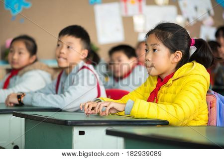 Chinese Girl In A Classroom