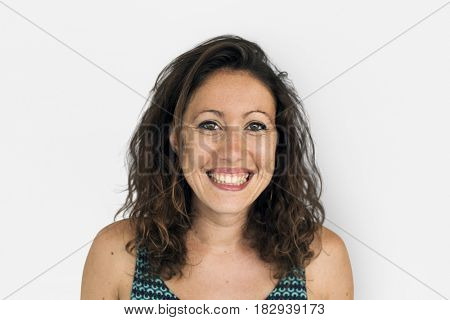 Woman Smiling Happiness Portrait Concept