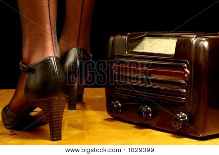 Retro Radio And High Heels