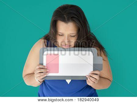 Chubby Woman Studio Shoot Portrait