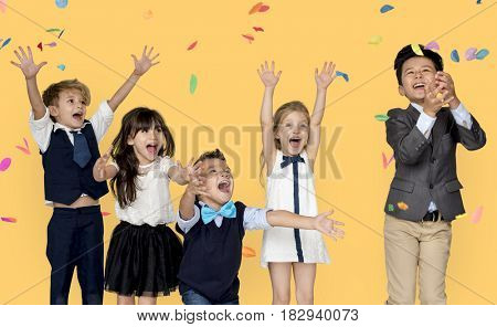 Children Smiling Happiness Friendship Togetherness Celebration Studio Portrait