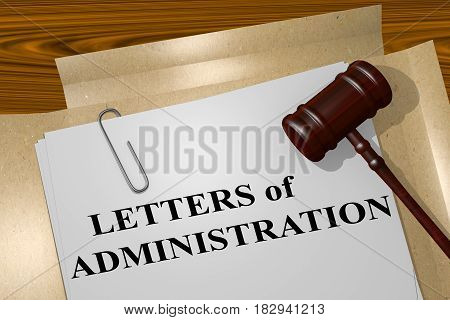 Letters Of Administration - Legal Concept