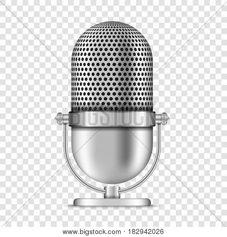 Realistic retro microphone , vector eps10 illustration