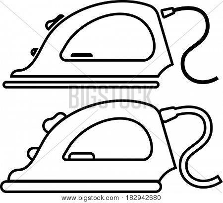 Clothing Iron Icon  Raster Illustration