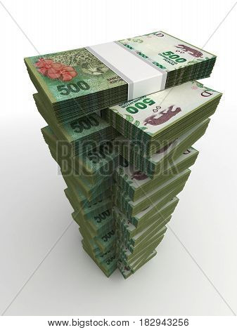 Argentina Pesos Tower (computer generated image)  3D Rendering